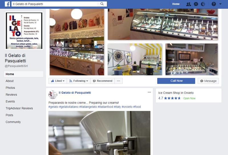 Il Gelato di Pasqualetti facebook