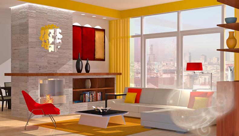 Air Wick rendering soggiorno moderno energetico