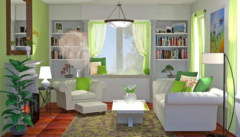 Air Wick rendering soggiorno classico fresco