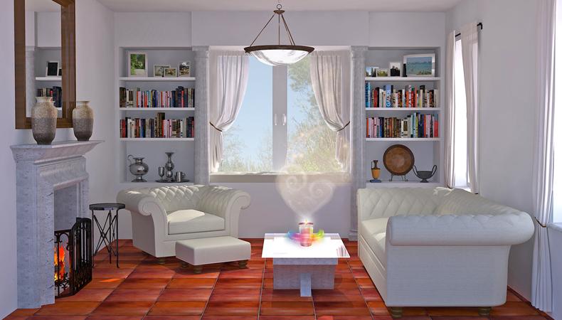 Air Wick rendering soggiorno classico neutro
