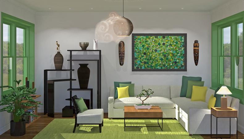 Air Wick rendering soggiorno etnico fresco