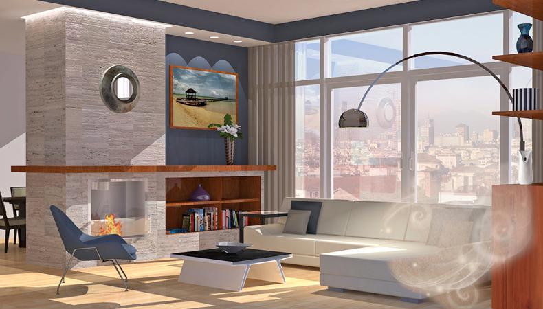 Air Wick rendering soggiorno moderno rilassante