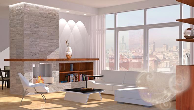 Air Wick rendering soggiorno moderno neutro