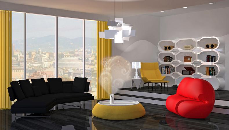 Air Wick rendering soggiorno pop neutro