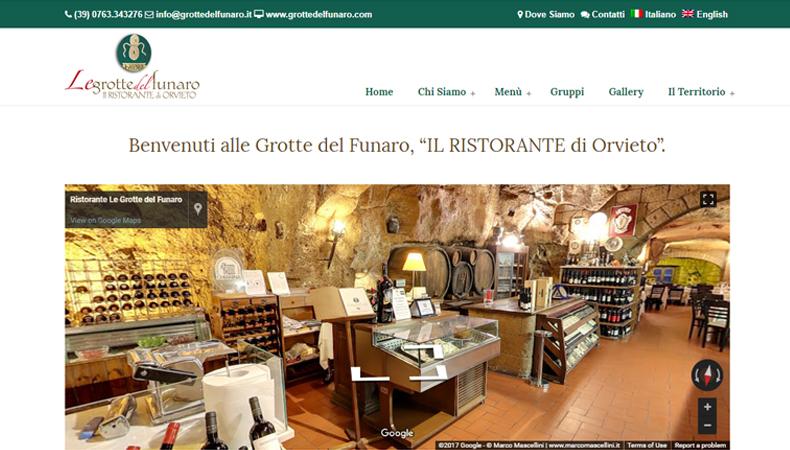 Ristorante Le Grotte del Funaro sito web
