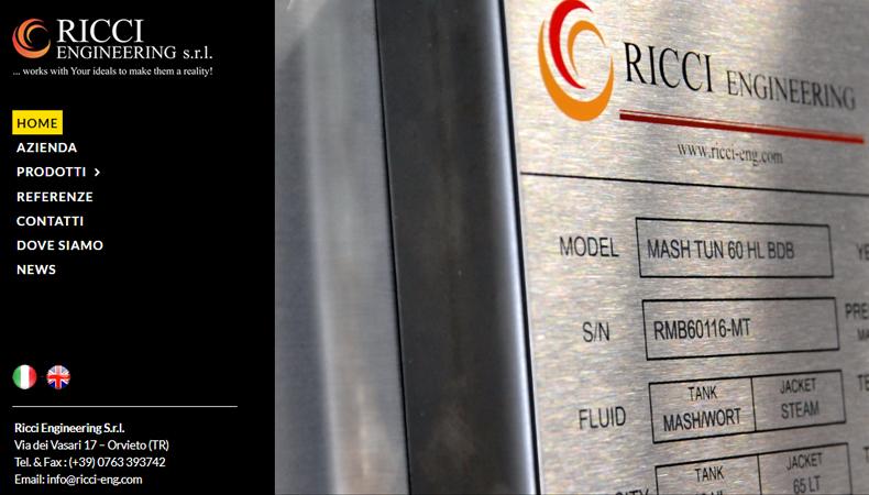 Ricci Engineering sito web